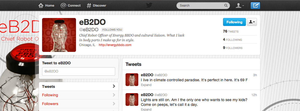 eB2DO | Physical Twitter Robot